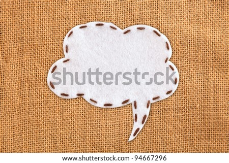 bubble fabric on burlap - stock photo