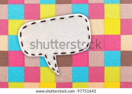 bubble fabric on colorful Scotch, line fabric - stock photo