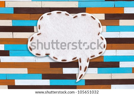 bubble fabric on colorful texture - stock photo
