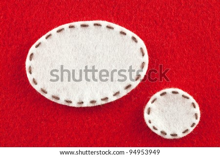 bubble fabric on red Fabric - stock photo