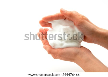 Bubble for face cleansing - stock photo