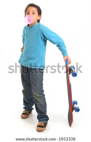 Bubble gum boy holding a skate. Look at my galery for more pictures of this model