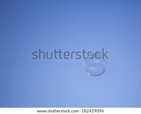 bubble in the sky  - stock photo