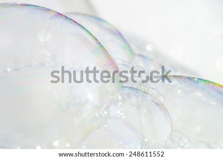 Bubble of detergent - stock photo