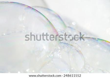 Bubble of detergent - stock photo