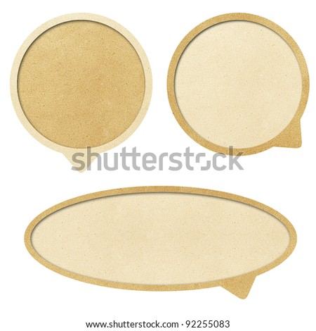 bubble talk  recycled paper craft - stock photo