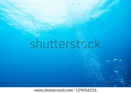 bubble underwater - stock photo
