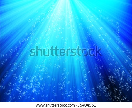 Bubble underwater background - stock photo