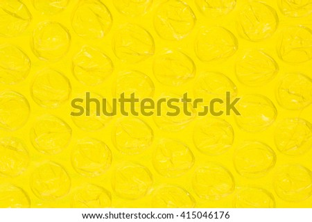 Bubble Wrap Background - Back lit with Yellow