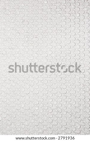 bubble wrap on white - stock photo