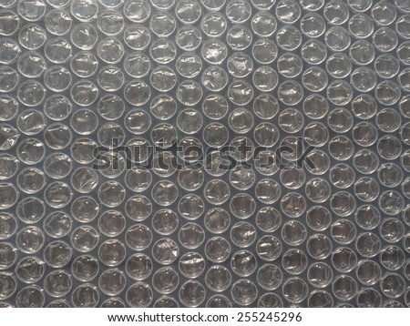 Bubble wrap texture useful as a background