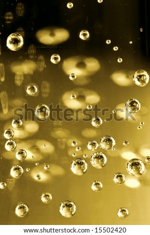 Bubbles of champagne closeup - stock photo