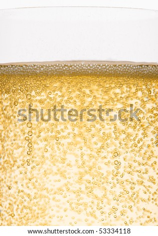 Bubbles of champagne closeup - stock photo