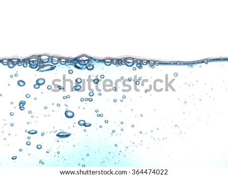 Bubbles of water - stock photo