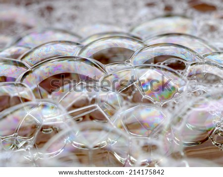 bubbles old retro vintage style - stock photo