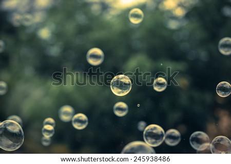 Bubbles vintage background. - stock photo