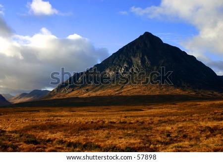 Buchaille Etive Mor Mountain - stock photo