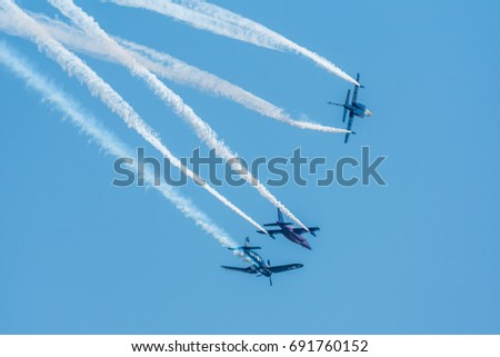 BUCHAREST / ROMANIA - July 22: Bucharest International Air Show 2017 (BIAS)