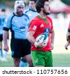 BUCHAREST, ROMANIA - JUNE 17: Unidentified rugby players during Portugal vs Uruguay in European Nations Cup at National Stadium, score 7-35, on June 17 , 2012 in Bucharest, Romania - stock photo