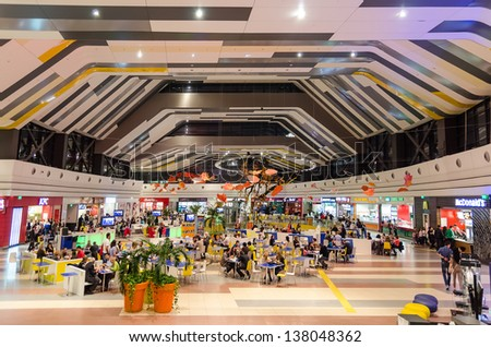 BUCHAREST, ROMANIA - OCTOBER 23: Sun Plaza Mall on October 23, 2012 in Bucharest, Romania. It is a shopping mall developed by EMCT Romania and Sparkassen Immobilien AG with architect Chapman Taylor.