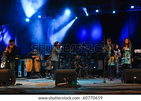 BUCHAREST, ROMANIA - SEP 10 : El Negro perform at Arenele Romane September 10, 2010 in Bucharest.