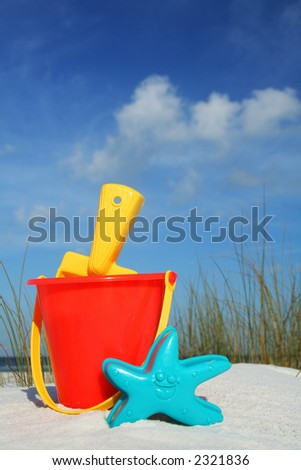 Bucket and Spade on the seashore