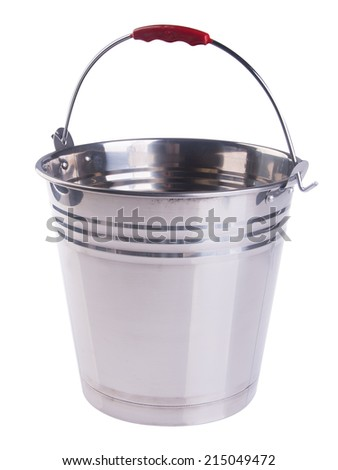 bucket. bucket on the background