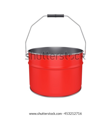 Bucket Isolated on White Background, 3D rendering