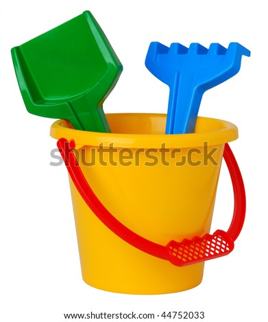 Bucket toy - stock photo