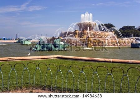 Buckingham Fountain in Chicago, Illinois - stock photo