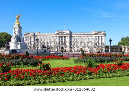 Buckingham Palace in London - stock photo