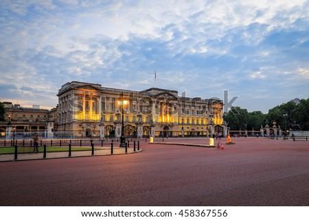 Buckingham Palace in London, United Kingdom.  - stock photo