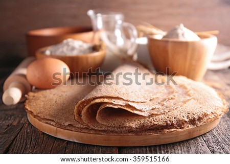 buckwheat crepe - stock photo