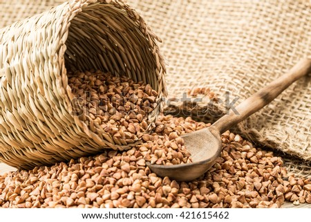 Buckwheat groats and household articles