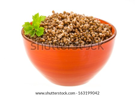 Buckwheat in the bowl