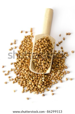 Buckwheat isolated - stock photo