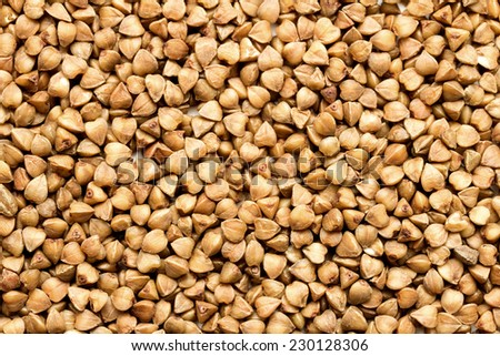 buckwheat, kernel - stock photo