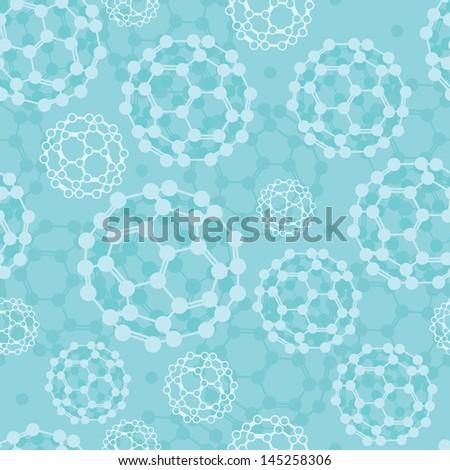 Buckyballs seamless pattern background raster - stock photo