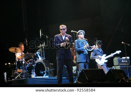 BUDAPEST, HUNGARY - AUG 11: British pop/ska band Madness perform in concert at the annual Sziget festival on Sunday, August 11, 2010 in Budapest, Hungary