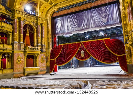 BUDAPEST, HUNGARY - AUG 5: famous old state  Opera house on Aug 5, 2008 in Budapest, Hungary. Designed by Miklos Ybl the construction  was finished in 1884 and was funded by Emperor Franz Joseph.