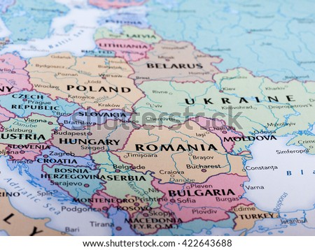 Budapest hungary circa may 2016 map stock photo royalty free budapest hungary circa may 2016 map of hungary with selective focus on name gumiabroncs Image collections
