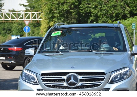 BUDAPEST, HUNGARY-  JULY 21: F1 driver Nico Rosberg is arriving on July 21, 2016 in Budapest. - stock photo