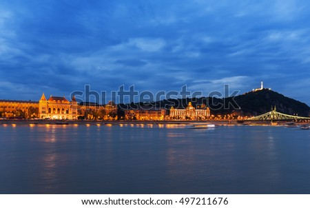 BUDAPEST, HUNGARY - JUNE 1: The building of the Technical University on June 1, 2014 in Budapest. The Technical University on the bank of Danube river is the largest politechnical institute in Hungary