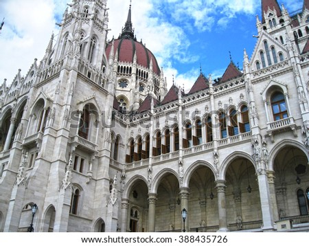 Budapest, Hungary - national Parliament building featuring. Renaissance revival architecture