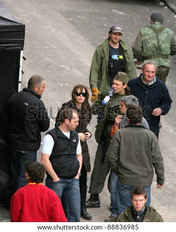 BUDAPEST - NOVEMBER 4: Angelina Jolie on the set of her film In The Land Of Blood And Honey in Budapest, Hungary, on Thursday, November 4, 2010.