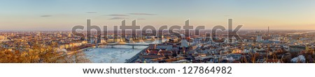 Budapest panorama, Hungary - stock photo