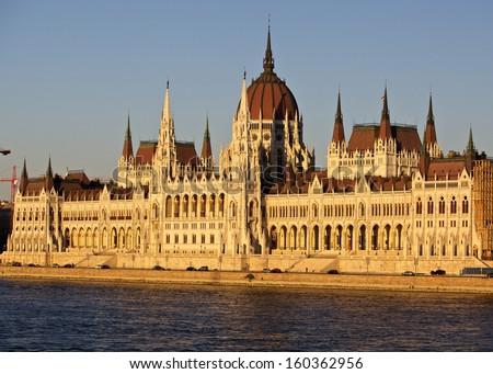 Budapest parliament - stock photo