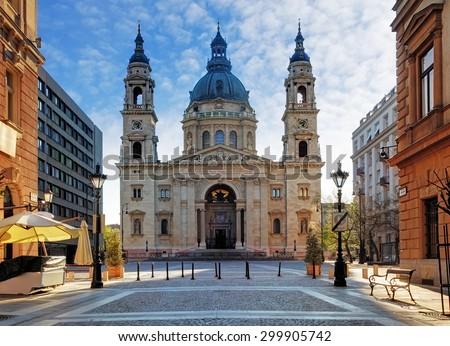 Budapest - St. Stephen's Basilica, Hungary - stock photo