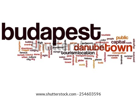 Budapest word cloud concept - stock photo