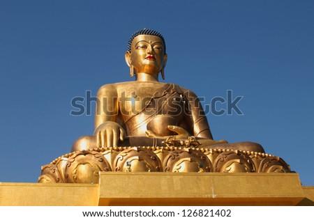Buddha Dordenma statue, Giant Buddha, Thimphu, Bhutan - stock photo